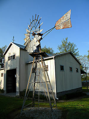 8ft Dandy Windmill  w/ tower, Challenge Mill Mfg. Co