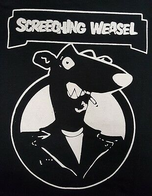 Screeching Weasel Queers Punk Rock Black Canvas Back Patch