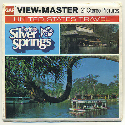 Florida's Silver Springs 1977 GAF View-Master Packet H-50 with Kodachrome Film