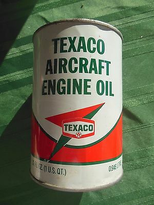 1968 Texaco Vintage Aircraft Engine Oil Can (full),