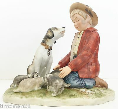 "NORMAN ROCKWELL Gorham Pride of Parenthood 1958 Figurine 5.5"" x 6"" 03285"