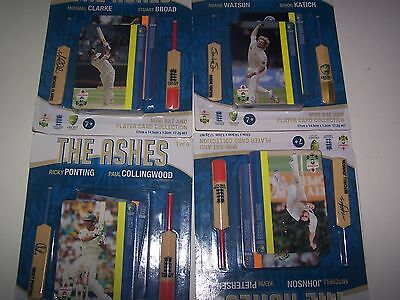 The Ashes. Mini Bat And Card Collection Cricket Australian Sport