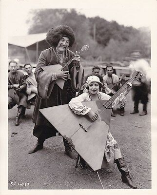 RENEE ADOREE Orig. CANDID Russian Balalaika Mandolin Vintage COSSACKS MGM Photo