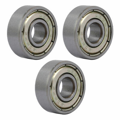 3 Pcs 17mmx6mmx6mm Stainless Steel Double Sealed Deep Groove Ball Bearing