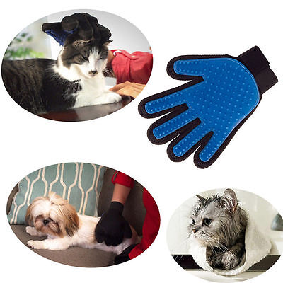 v, Pet Deshedding Cleaning Brush Dog Hair Massage Grooming Groomer Optimal Glove