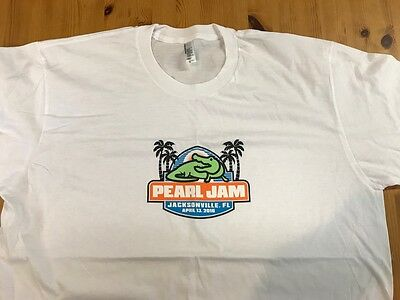 PEARL JAM: JACKSONVILLE 2016 SHOW T-SHIRT XL! NEW! Not sticker or poster, VEDDER