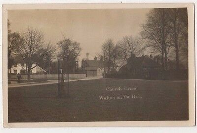 Church Green Walton on Hill, Surrey RP Postcard B746