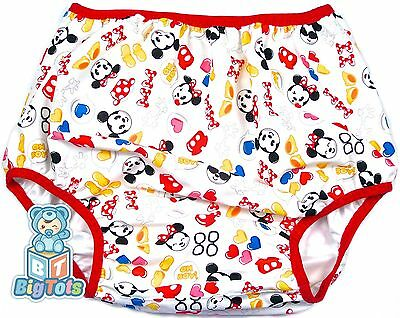 "BIG TOTS adult PUL diaper cover Baby MINNIE & MICKEY MOUSE   43"" hip"