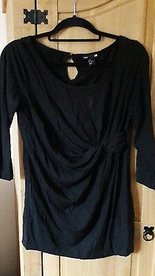 H&M mama black maternity top size medium