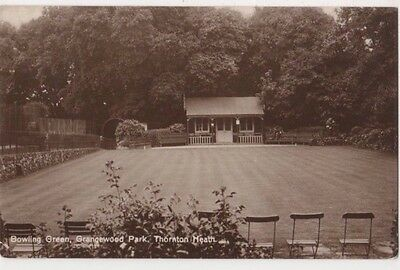 Bowling Green Grangewood Park Thornton Heath, Surrey RP Postcard B746
