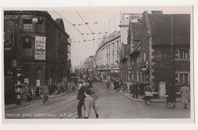 North End Croydon, Surrey RP Postcard B746