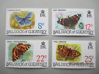 Guernsey 1981, Butterflies,  Set Of 4, U/mint,