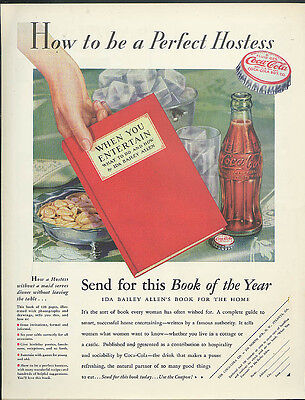 How to be a Perfect Hostess Coca-Cola When You Entertain book offer ad 1932