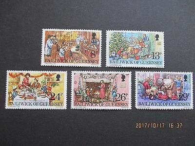 Guernsey 1982 Christmas  Set Of 5  U/mint Free Postage