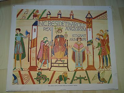 Vintage Macmillan's Teaching Poster Bayeux Tapestry