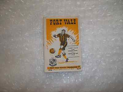 Port Vale v Swindon Town  Saturday 30th April 1960