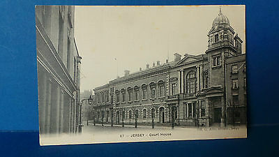 Jersey Channel Islands Postcard Court House by HG Allix No.67 Unused