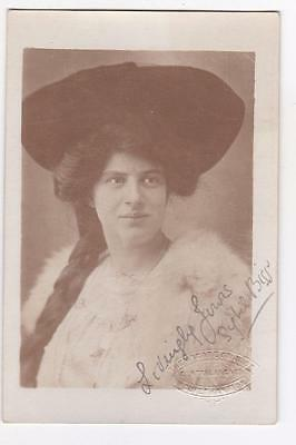 Signed Sybill Biss Real Photo Postcard Arcade Studios Wolverhampton