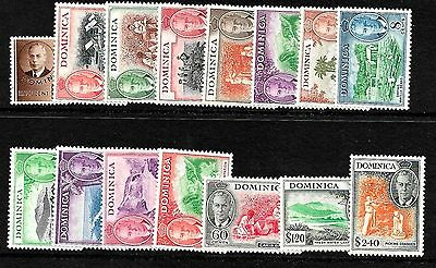 DOMINICA,,, 1951 set complete very fine m/mint, SG 120-34,,much sought,,