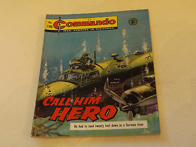 Commando War Comic Number 186!!,1965,v Good For Age,52 Years Old Issue,v Rare.