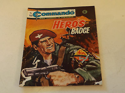 Commando War Comic Number 193!!,1965,v Good For Age,52 Years Old Issue,v Rare.