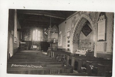 Aldermaston Church Berkshire Vintage RP  Postcard