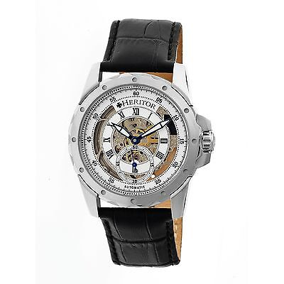 Heritor Automatic HR3401 Armstrong Mens Watch, 44mm, Black Strap, : HERHR3401