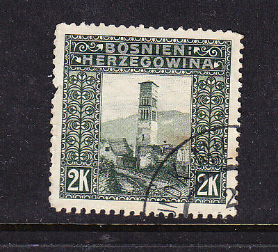 BOSNIA postage stamp - 1906 2K 'undated' Used - Collection Odds