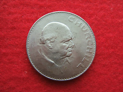 1965  British  'winston Churchill'  Crown  Coin   ( Old Five Shillings )...