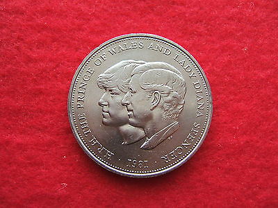1981 Crown Coin  'charles And Diana'  Wedding Commemorative  (25 Pence Piece )
