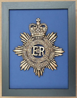 Large Scale Framed ROYAL ARMY SERVICE CORPS (RASC) Cap Badge Plaque