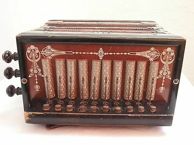 Akkordeon Harmonika um 1900 vintage accordion harmonica