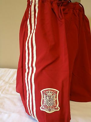 Spain Official Player Issue Home Shorts 14/15 Mens Sz Xl New