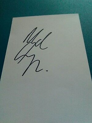manchester united signed white card by m, clegg