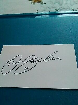 manchester united signed white card by David Beckham