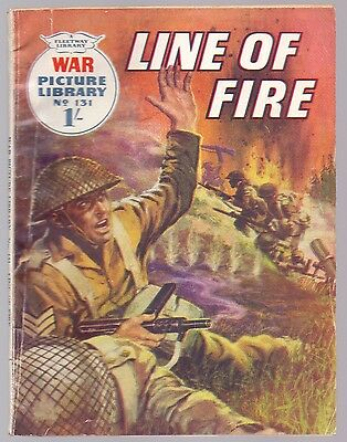 War Picture Library Line of Fire No 131.Fleetway 1961 1/-  (CM1)