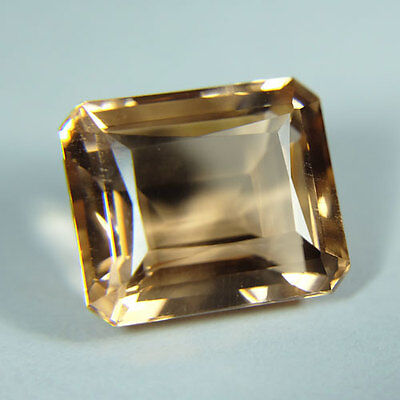19.75cts.AWESOME PEACH SAPPHIRE OCTAGON LOOSE GEMSTONE