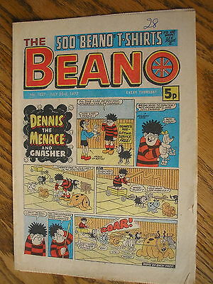the beano comic 23 july 1977, 40th birthday present