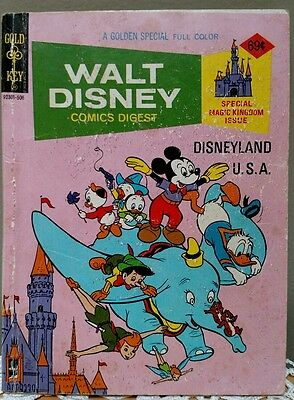 WALT DISNEY COMICS DIGEST #53 Special Magic Kingdom Issue  June 1975 GOLD KEY