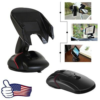 360 Car Mouse Holder Windshield Mount Bracket For Mobile Cell Phone GPS iPhone