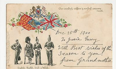 Soldiers of The Empire, Early Tuck 257 Embossed Chromo Postcard, B053