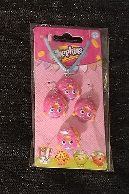 Shopkins D'Lish Donut Necklace Earrings Ring Jewelry Set NEW Fastest Shipping