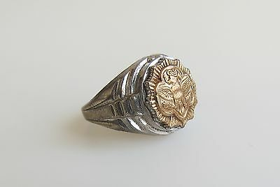 Senior Girl Scout Eagle Logo RING 10K GOLD & Sterling Silver Sz 5.75