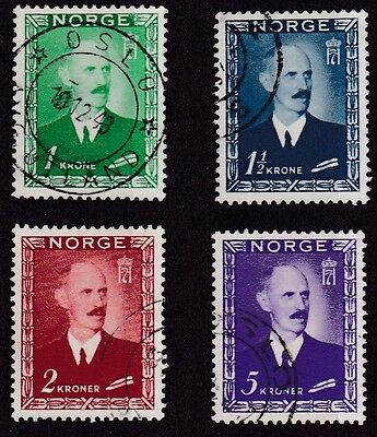 Norway #275-278 Used King Haakon Vii