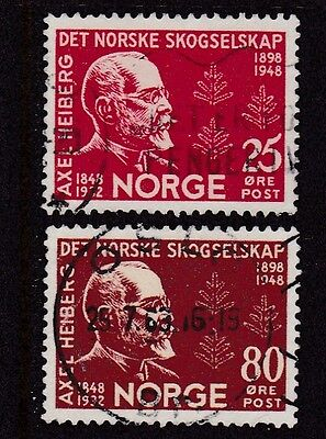 NORWAY #292-293 USED 50th ANNIV. BIRTH OF AXEL HEIBERG