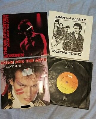 """Adam and the Ants 7"""" vinyl records x4 great condition UK POST new wave punk"""