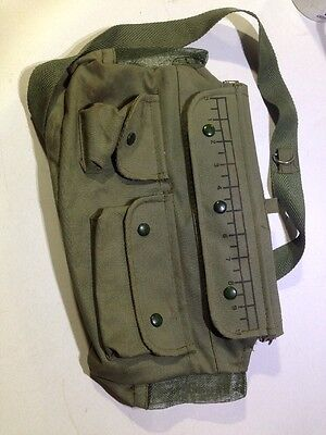 (Nice) Rubber & Canvas Fishing Creel Bag