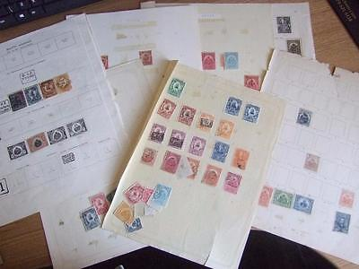 COLLECTION of MINT & USED HAITI STAMPS on 8 PAGES - 13 Photos