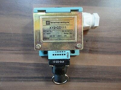 Telemecanique Cable Limit Switch Xy2-Cd111  See Photo's #d706