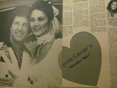 Lynda Carter, Wonder Woman, Two Page Vintage Clipping